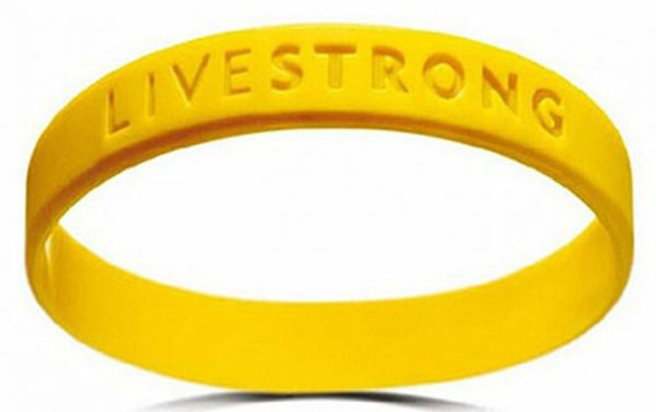 1pc living strong wristband yellow color